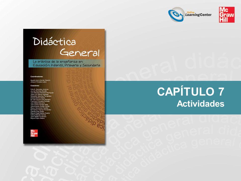 Capítulo 7.Actividades PRESENCIALES Gran grupo 1.«Entrevista pública».