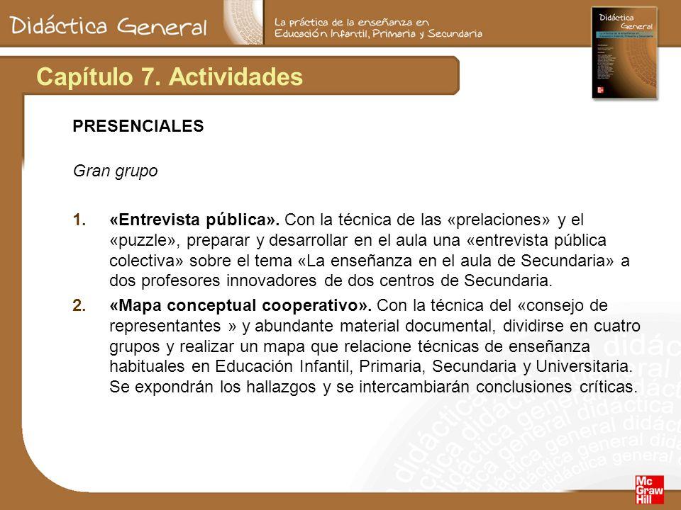 Capítulo 7.Actividades PRESENCIALES (cont.) Seminario 1.«Fichero cooperativo».