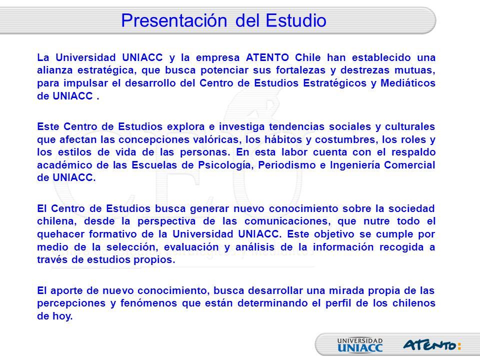 Presentación del Estudio La Universidad UNIACC y la empresa ATENTO Chile han establecido una alianza estratégica, que busca potenciar sus fortalezas y