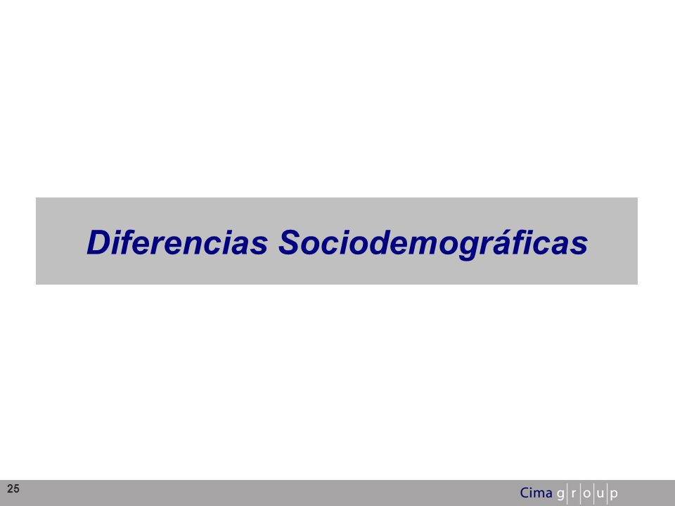 25 Diferencias Sociodemográficas