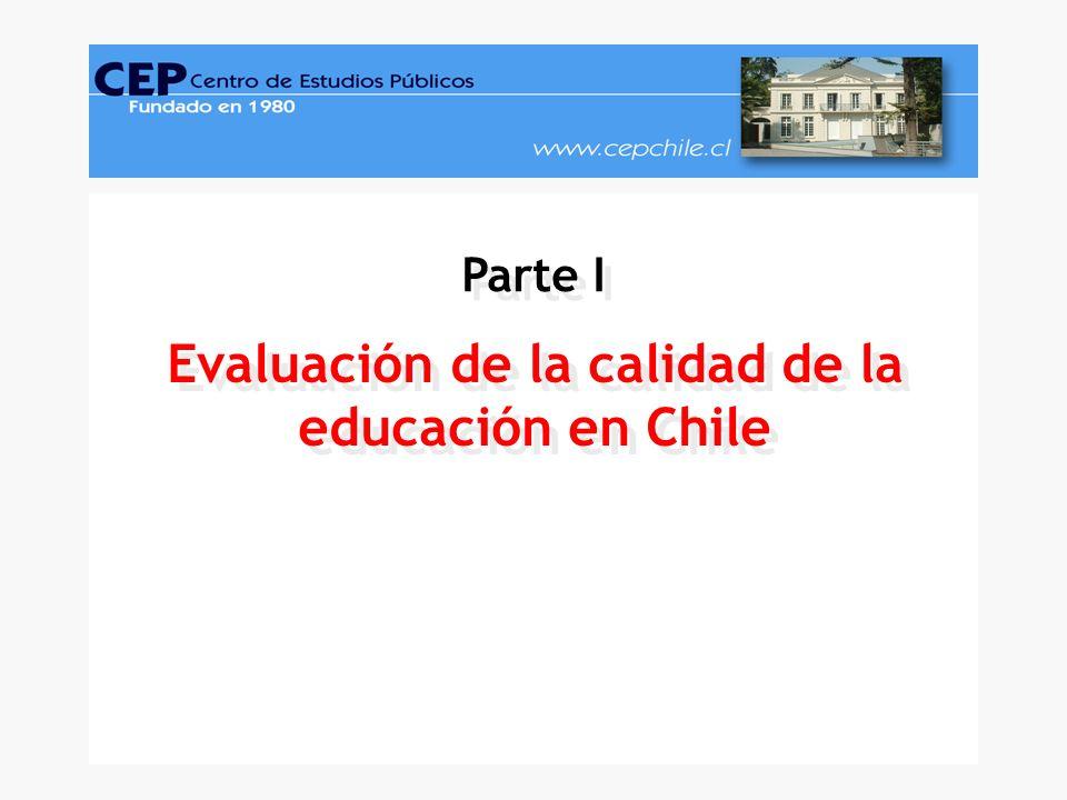Evaluación de la calidad de la educación en Chile Parte I