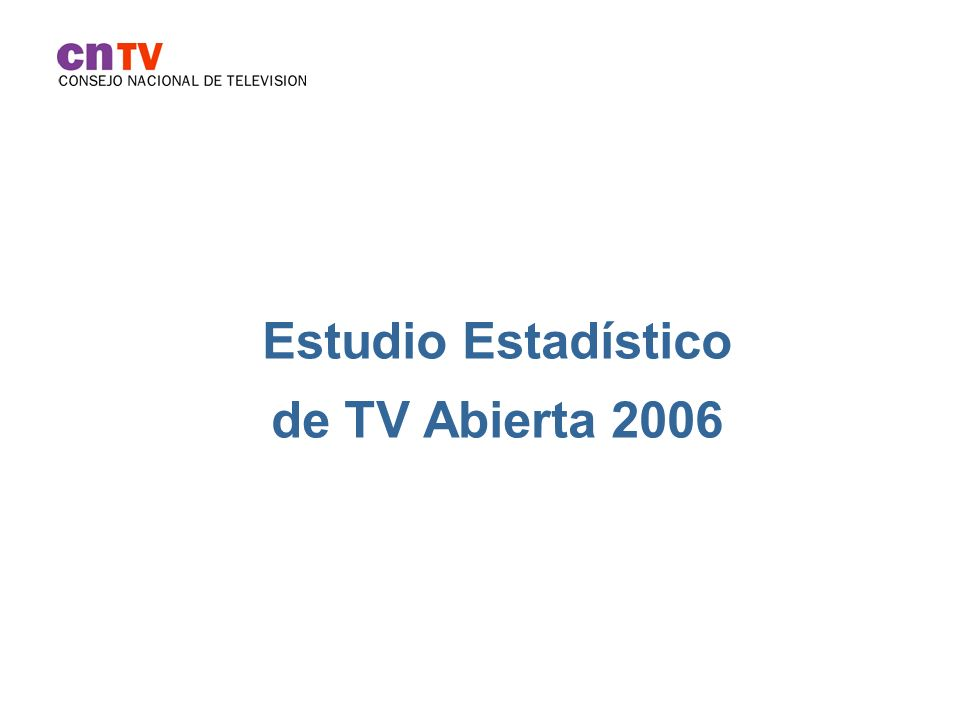 Estudio Estadístico de TV Abierta 2006