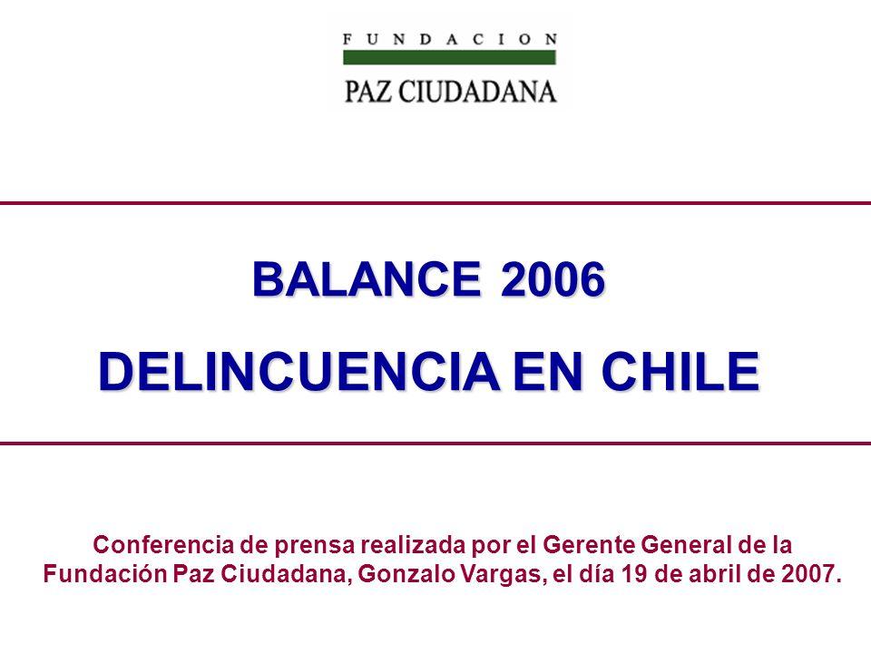 Por quinto año consecutivo, la Fundación Paz Ciudadana entrega el Balance de la Delincuencia.
