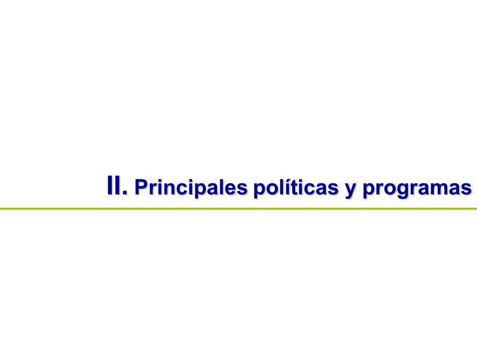 II. Principales políticas y programas