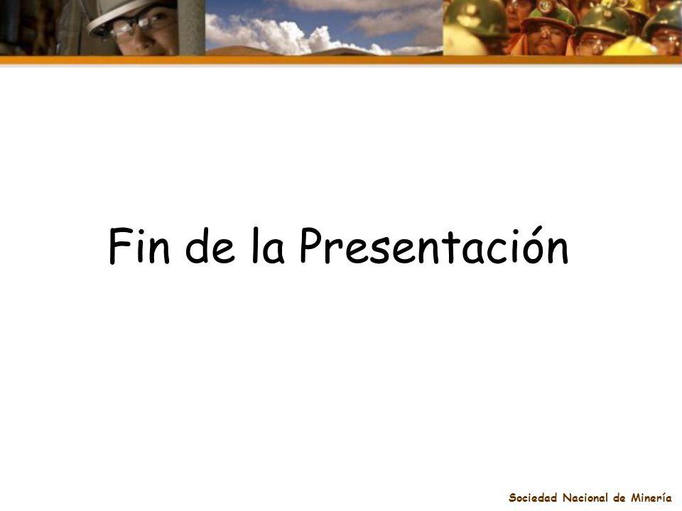 Sociedad Nacional de Minería Fin de la Presentación