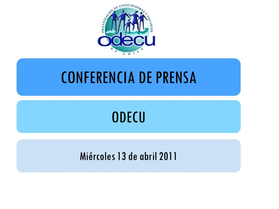 CONFERENCIA DE PRENSA ODECU Miércoles 13 de abril 2011
