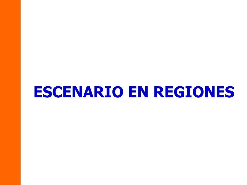 ESCENARIO EN REGIONES