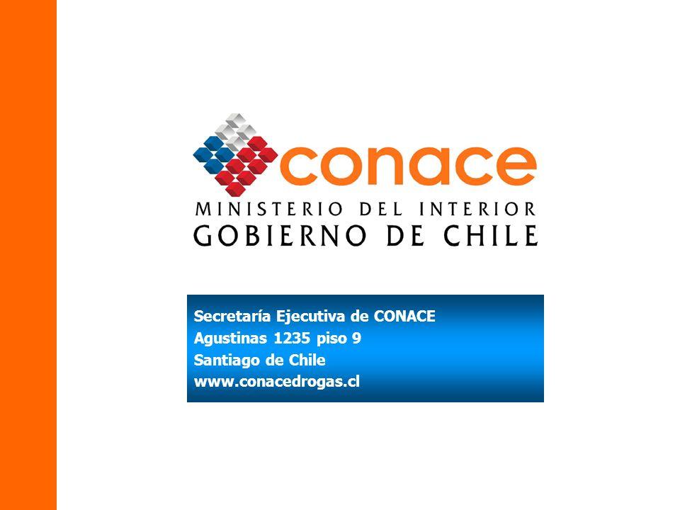 Secretaría Ejecutiva de CONACE Agustinas 1235 piso 9 Santiago de Chile www.conacedrogas.cl