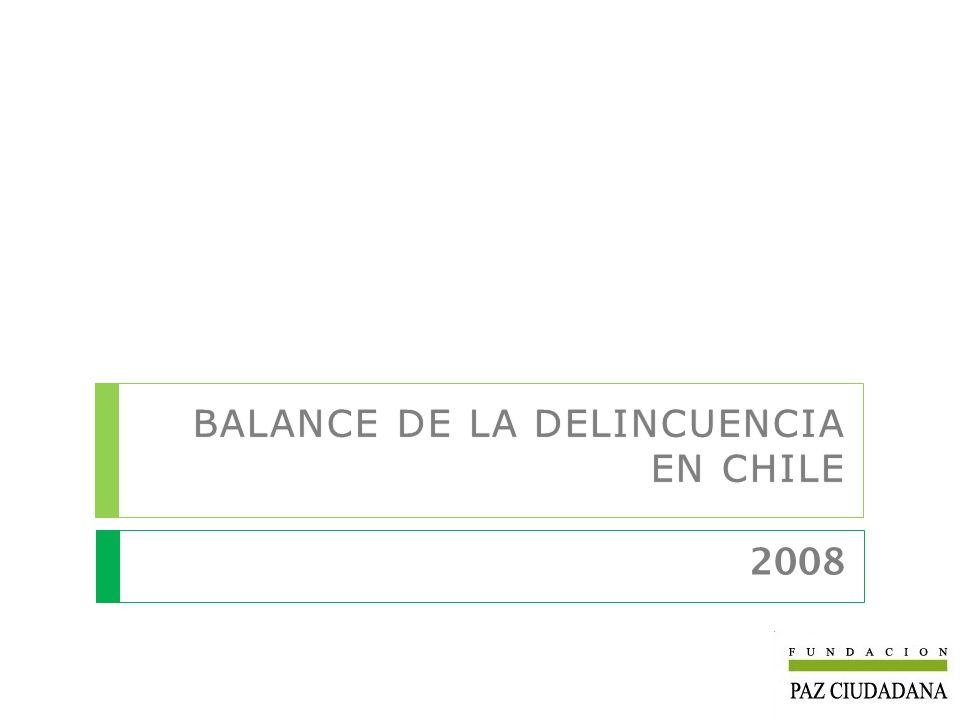 Con el objeto de contribuir a la prevención y control de la delincuencia en Chile, por séptima vez, Fundación Paz Ciudadana entrega el Balance de la Delincuencia, el cual constituye un esfuerzo de sistematización de las estadísticas e información disponible sobre seguridad ciudadana.