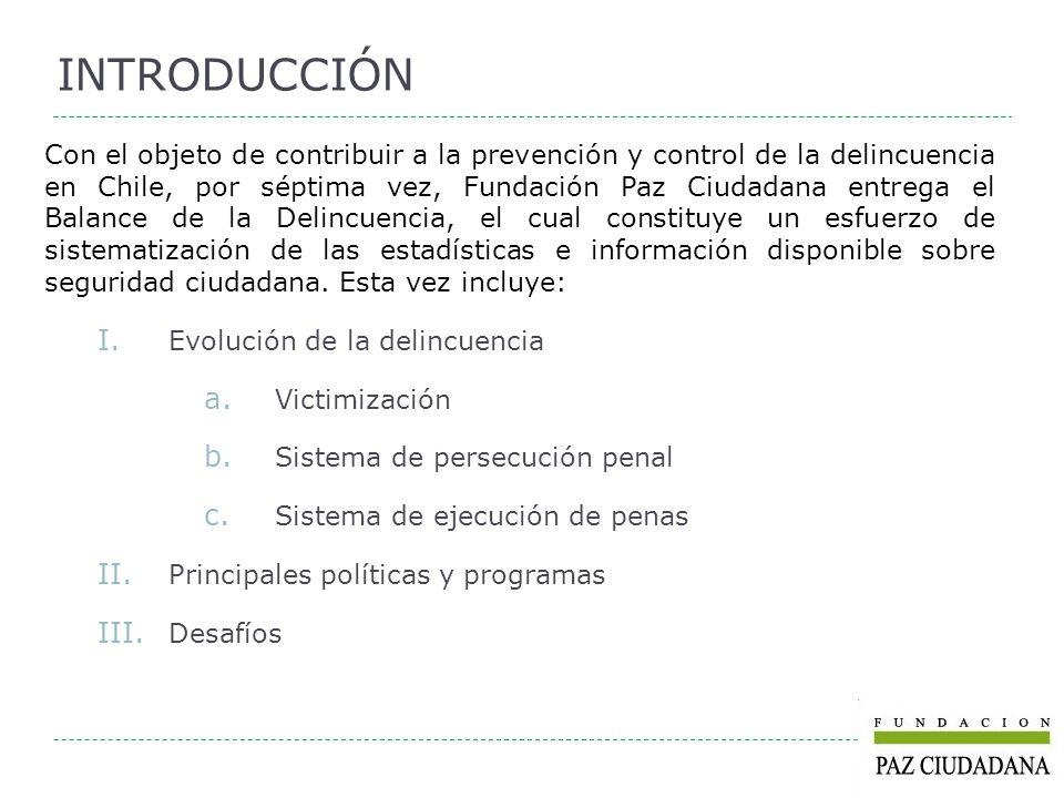 Con el objeto de contribuir a la prevención y control de la delincuencia en Chile, por séptima vez, Fundación Paz Ciudadana entrega el Balance de la D
