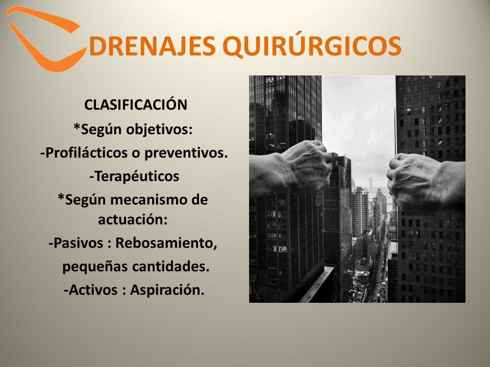 DRENAJES QUIRÚRGICOS PASIVOS *DRENAJES SIMPLES (sin aspiración): -PENROSE.