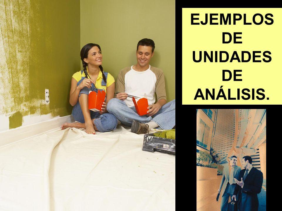 EJEMPLOS DE UNIDADES DE ANÁLISIS.