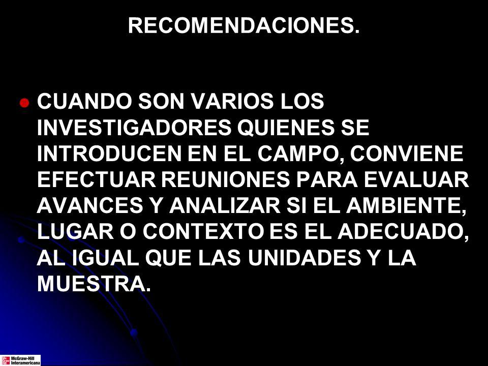 RECOMENDACIONES.