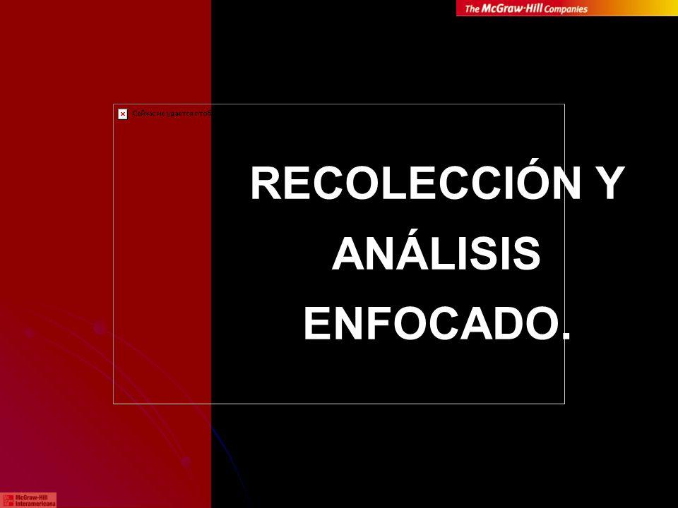 RECOLECCIÓN Y ANÁLISIS ENFOCADO.