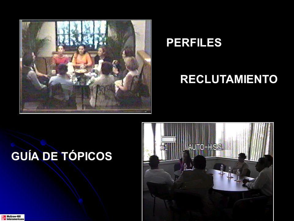 PERFILES GUÍA DE TÓPICOS RECLUTAMIENTO