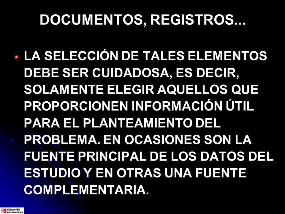 DOCUMENTOS, REGISTROS...