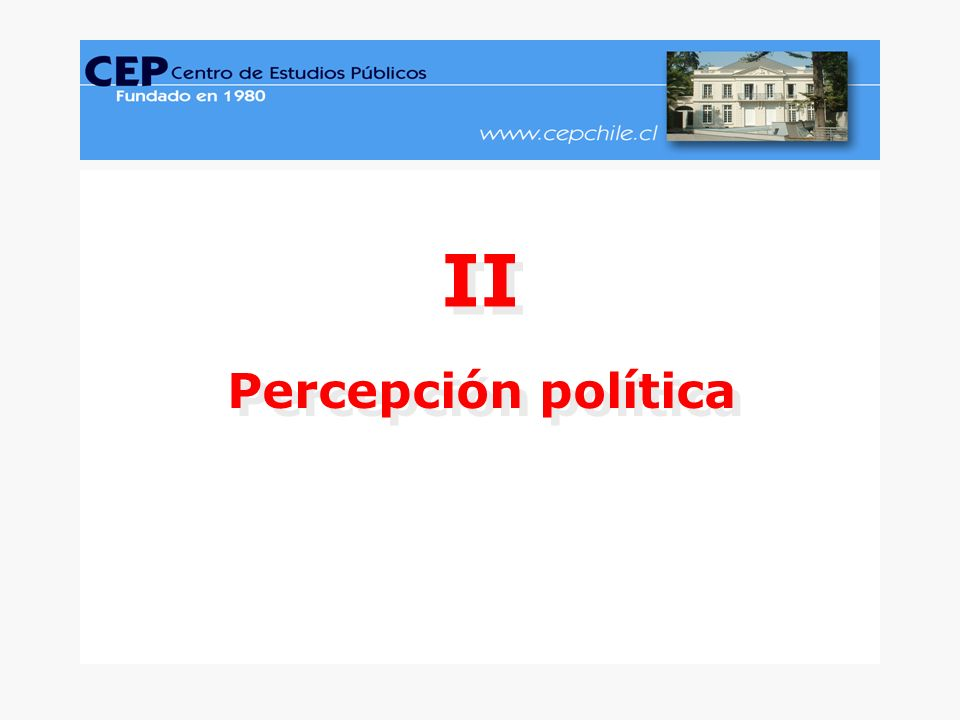 CEP, Encuesta Nacional de Opinión Pública, Octubre-Noviembre 2005.www.cepchile.cl % 9 Diseño gráfico: David Parra Arias www.cepchile.cl Percepción política II