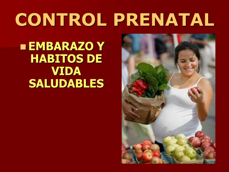 CONTROL PRENATAL EMBARAZO Y HABITOS DE VIDA SALUDABLES EMBARAZO Y HABITOS DE VIDA SALUDABLES