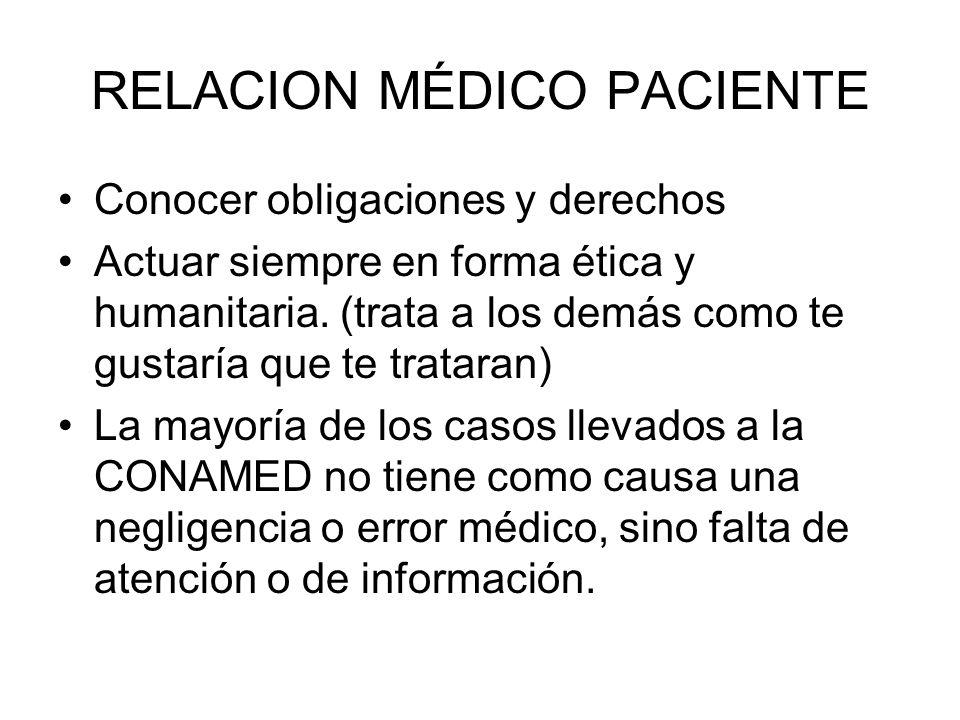 DERECHOS DE LOS PACIENTES Y LOS MEDICOS COMISIÓN DE ARBITRAJE MÉDICO DEL ESTADO DE VERACRUZ Comisionado: Dr.