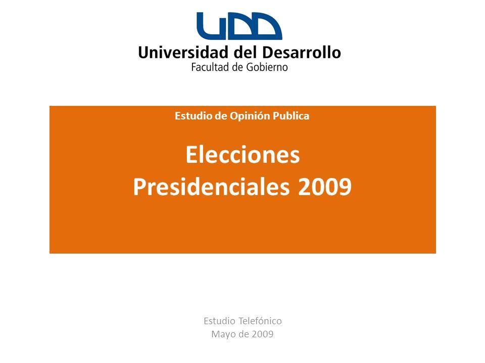 Estudio de Opinión Publica Elecciones Presidenciales 2009 Las Bellotas 199 of. 71 – Providencia, Santiago – Chile Fono (56-2) 3724790 info@cis-chile.c