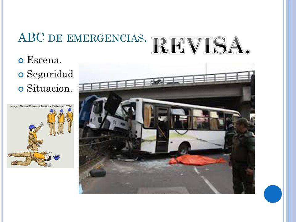 ABC DE EMERGENCIAS. Escena. Seguridad Situacion.