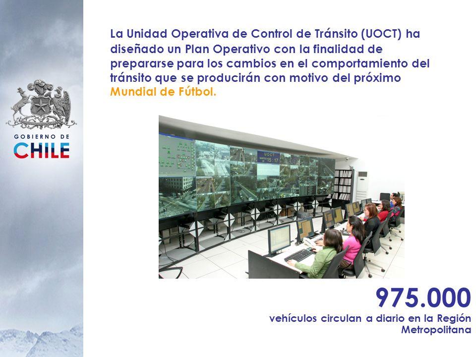 La Unidad Operativa de Control de Tránsito (UOCT) ha diseñado un Plan Operativo con la finalidad de prepararse para los cambios en el comportamiento del tránsito que se producirán con motivo del próximo Mundial de Fútbol.