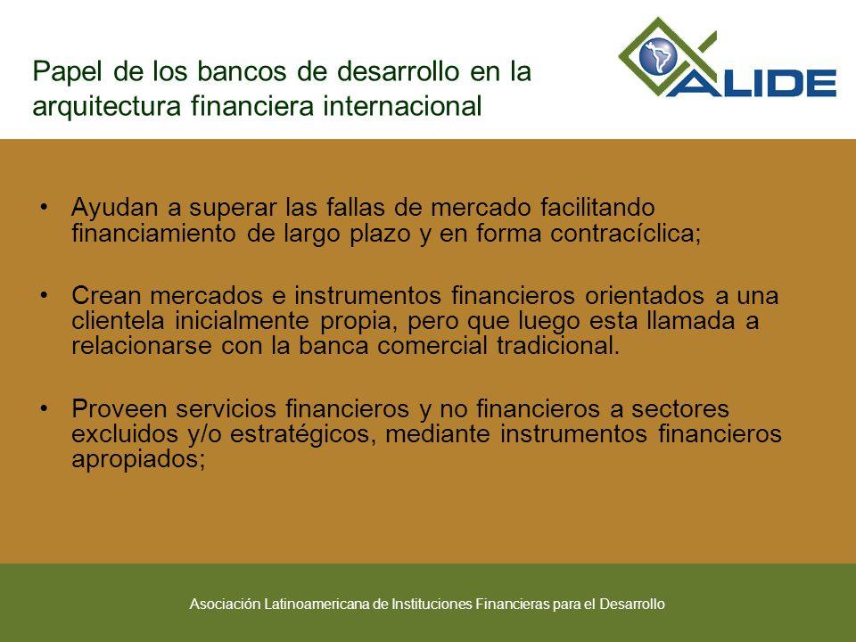 Asociación Latinoamericana de Instituciones Financieras para el Desarrollo Papel de los bancos de desarrollo en la arquitectura financiera internacion