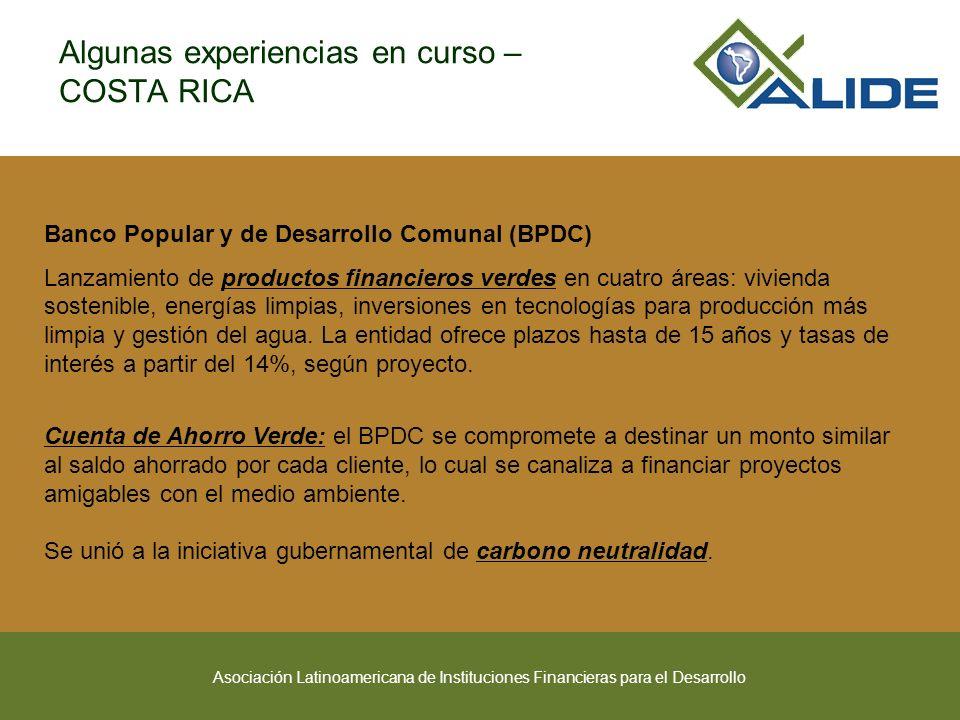 Asociación Latinoamericana de Instituciones Financieras para el Desarrollo Banco Popular y de Desarrollo Comunal (BPDC) Lanzamiento de productos finan