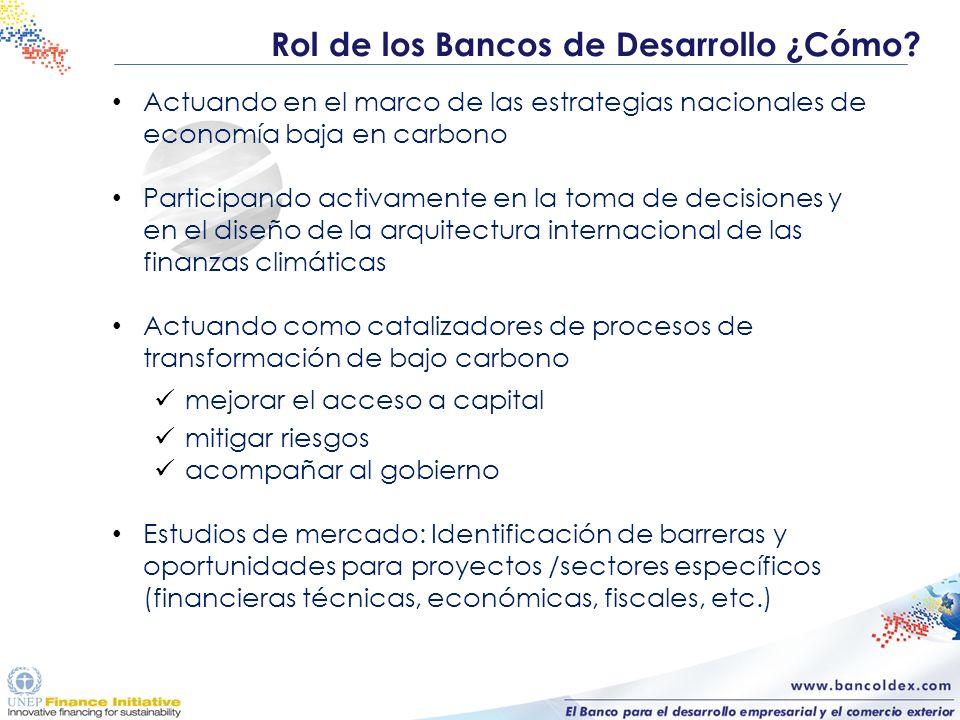 Actuando en el marco de las estrategias nacionales de economía baja en carbono Participando activamente en la toma de decisiones y en el diseño de la