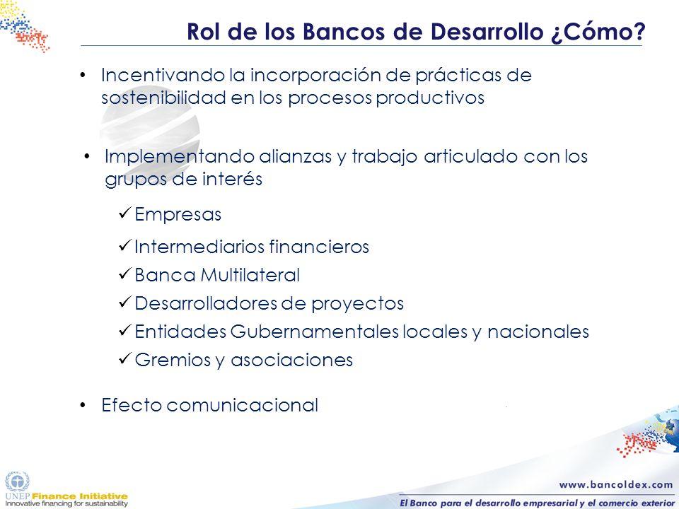 Incentivando la incorporación de prácticas de sostenibilidad en los procesos productivos Implementando alianzas y trabajo articulado con los grupos de
