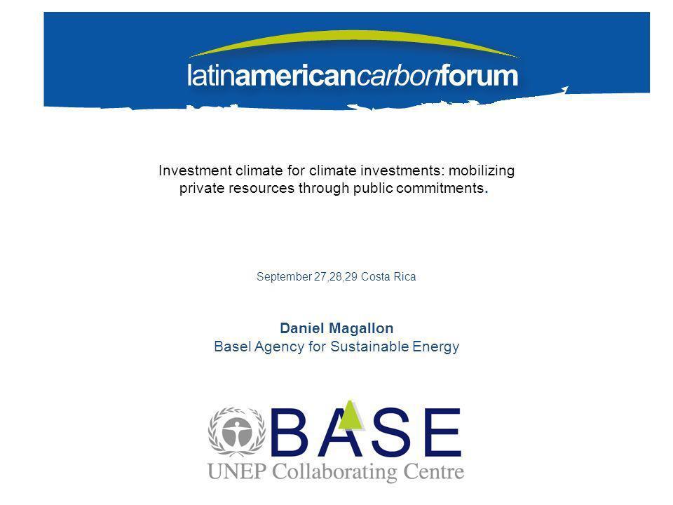 Proyecto operando Fases de financiamiento en el desarrollo de proyectos de mitigación Capital privado créditos blandos con periodo de gracia Project finance/ Deuda Carbon Finance Prefactibilidad Diseño, Ingeniería y Preparación Construcción Operación y Mantenimiento