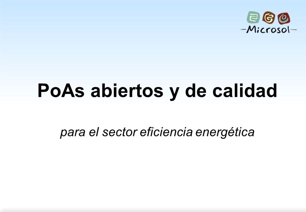 Strictly confidential 1 PoAs abiertos y de calidad para el sector eficiencia energética