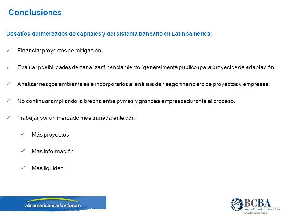 Desafíos del mercados de capitales y del sistema bancario en Latinoamérica: Financiar proyectos de mitigación.
