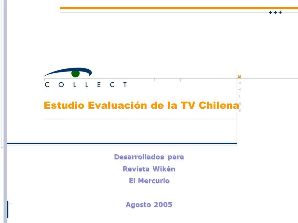Estudio Evaluación de la TV Chilena Desarrollados para Revista Wikén El Mercurio Agosto 2005