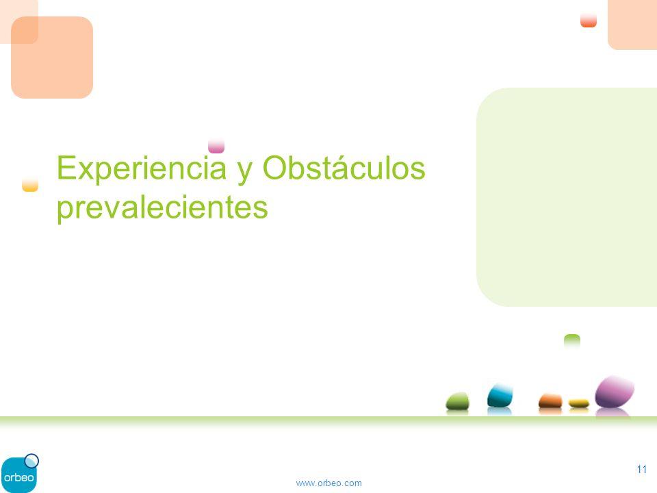 www.orbeo.com Experiencia y Obstáculos prevalecientes 11