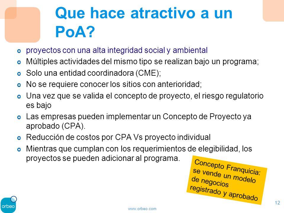 www.orbeo.com Que hace atractivo a un PoA.
