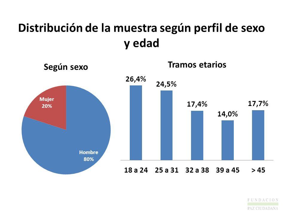 Distribución de la muestra según perfil de sexo y edad