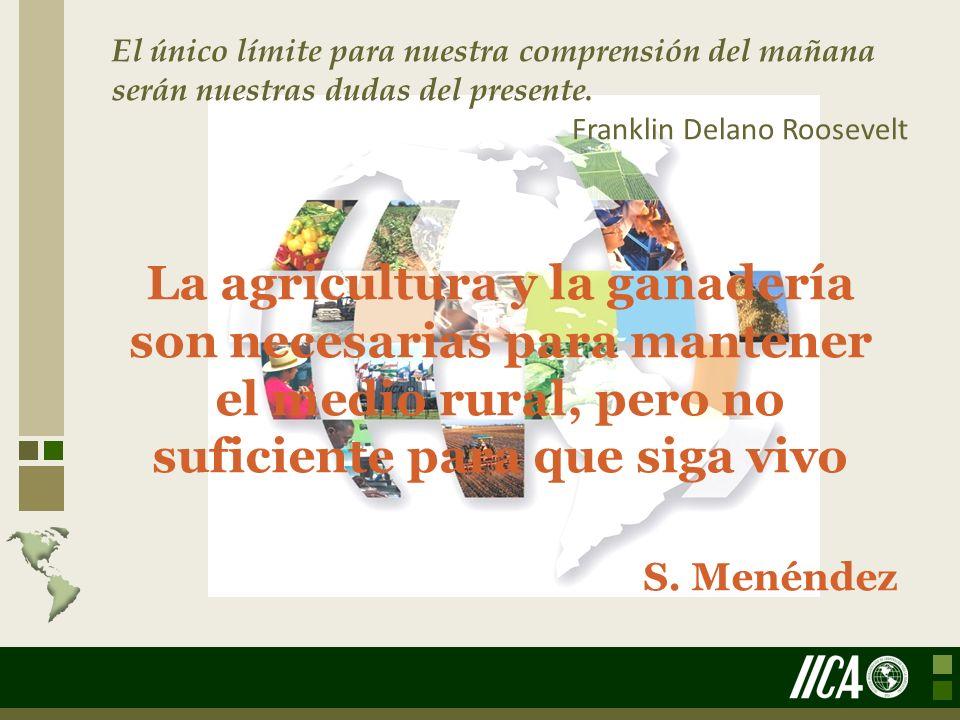 La agricultura y la ganadería son necesarias para mantener el medio rural, pero no suficiente para que siga vivo S. Menéndez El único límite para nues