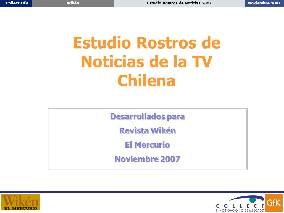Noviembre 2007Estudio Rostros de Noticias 2007Collect-GfKWikén Estudio Rostros de Noticias de la TV Chilena Desarrollados para Revista Wikén El Mercurio Noviembre 2007