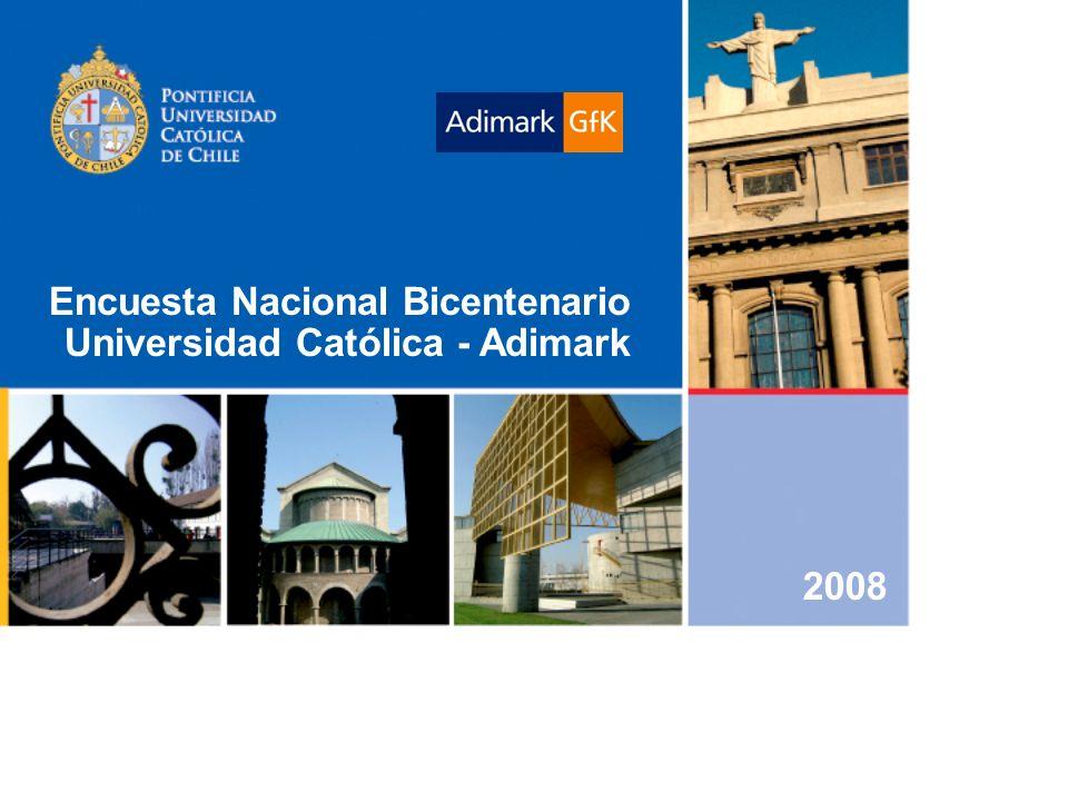 Encuesta Nacional Bicentenario Universidad Católica - Adimark 2008