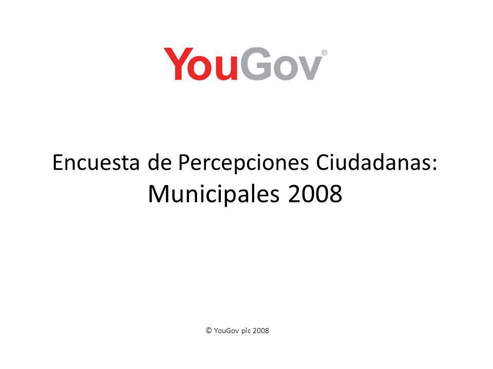 Encuesta de Percepciones Ciudadanas: Municipales 2008 © YouGov plc 2008