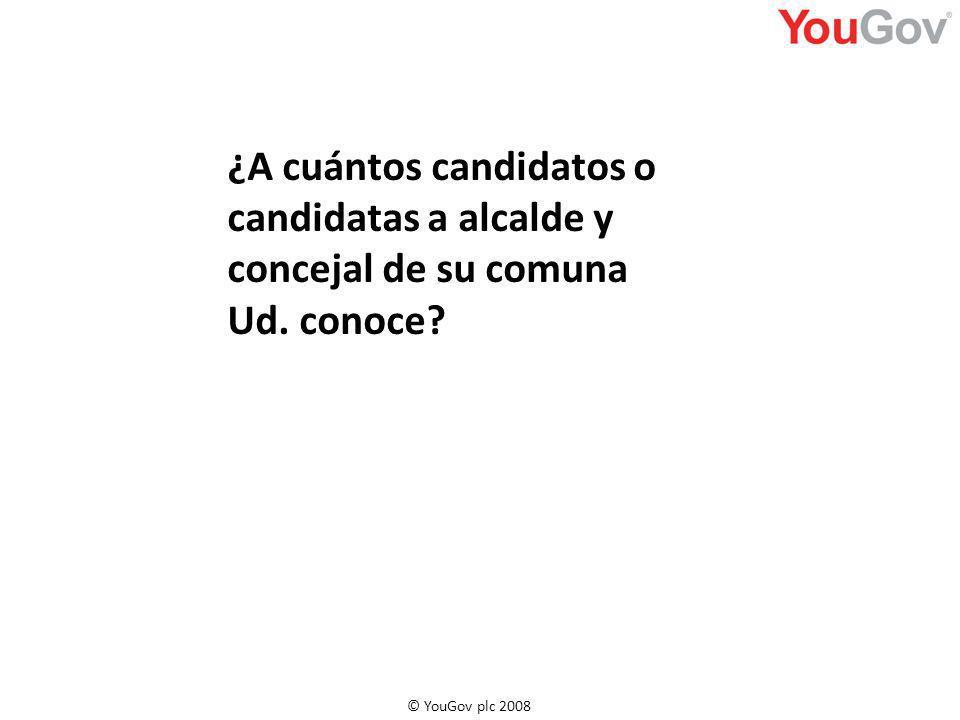¿A cuántos candidatos o candidatas a alcalde y concejal de su comuna Ud. conoce