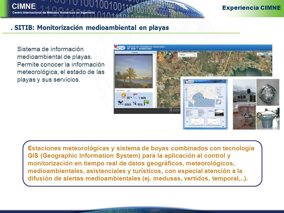 SITIB: Monitorización medioambiental en playas Sistema de información medioambiental de playas.