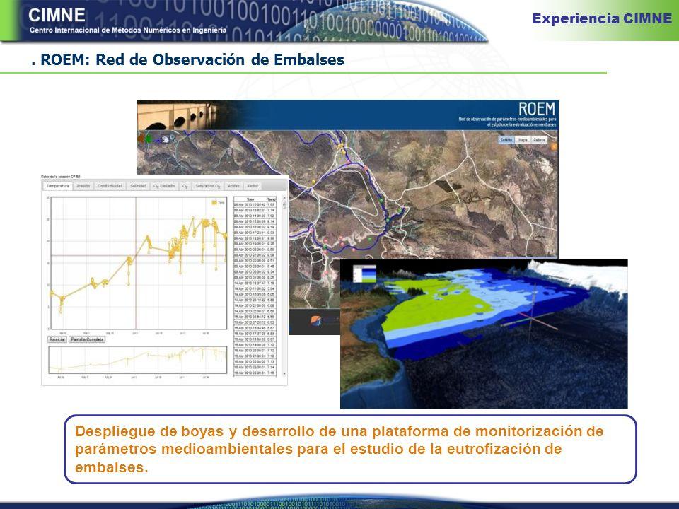 ROEM: Red de Observación de Embalses Despliegue de boyas y desarrollo de una plataforma de monitorización de parámetros medioambientales para el estudio de la eutrofización de embalses.