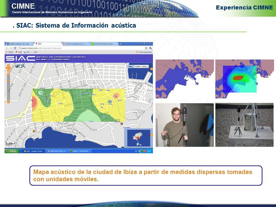 SIAC: Sistema de Información acústica Mapa acústico de la ciudad de Ibiza a partir de medidas dispersas tomadas con unidades móviles.