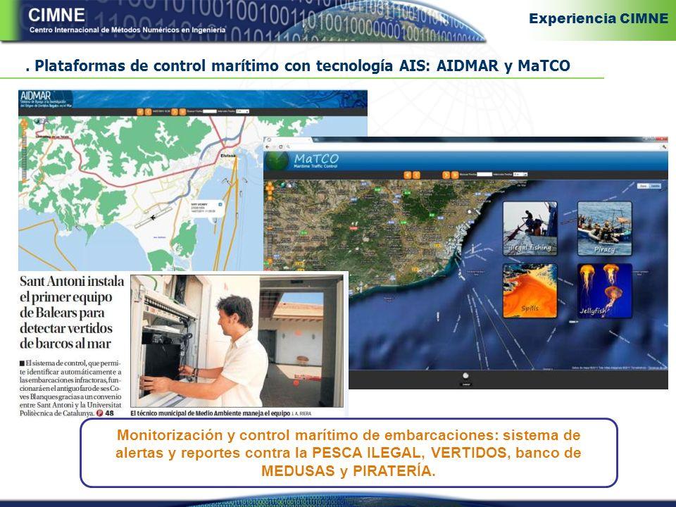 Plataformas de control marítimo con tecnología AIS: AIDMAR y MaTCO Monitorización y control marítimo de embarcaciones: sistema de alertas y reportes contra la PESCA ILEGAL, VERTIDOS, banco de MEDUSAS y PIRATERÍA.