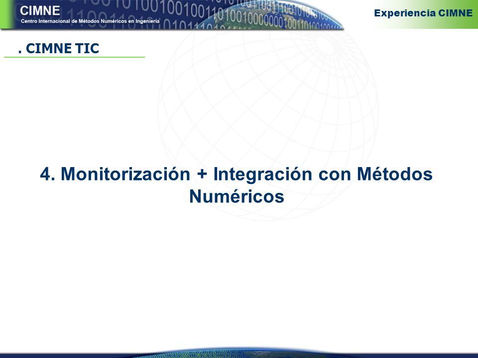 4. Monitorización + Integración con Métodos Numéricos. CIMNE TIC Experiencia CIMNE
