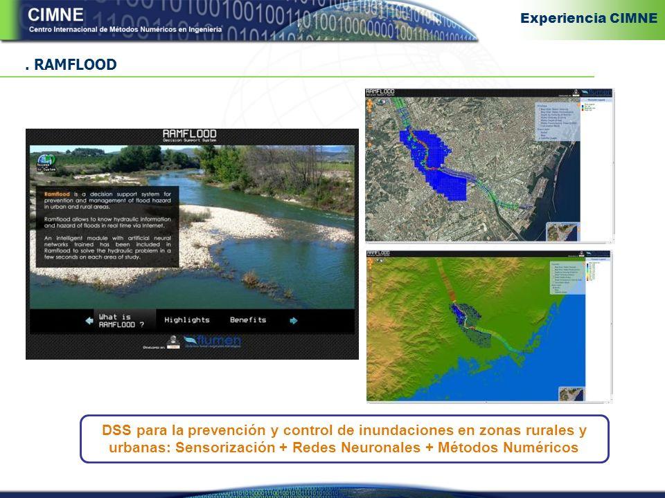 . RAMFLOOD DSS para la prevención y control de inundaciones en zonas rurales y urbanas: Sensorización + Redes Neuronales + Métodos Numéricos Experiencia CIMNE