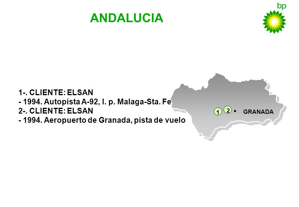 GRANADA 1 2 ANDALUCIA 1-. CLIENTE: ELSAN - 1994. Autopista A-92, l. p. Malaga-Sta. Fe 2-. CLIENTE: ELSAN - 1994. Aeropuerto de Granada, pista de vuelo
