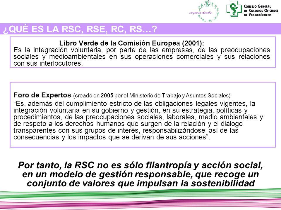 ¿QUÉ ES LA RSC, RSE, RC, RS….